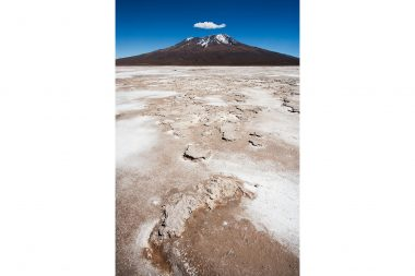 Advertising landscape photograph of a mountain in Bolivia