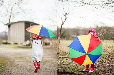 A girl with an umbrella