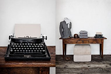 Photographs of an antique typewrite and a Mannequin for a photography book