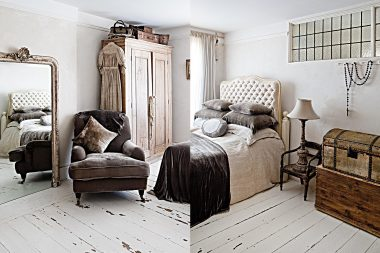 Interior photographs of bedrooms in London
