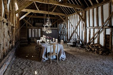 Interior photograph of an interior design project in a barn in London