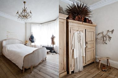 Interior design photographs of a bed and a wardrobe