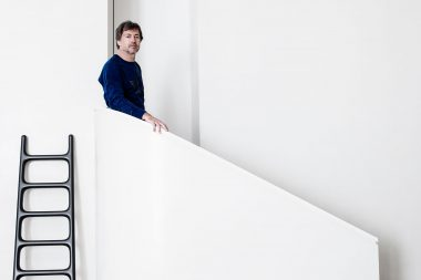 Portrait of designer Marc Newson in his London home