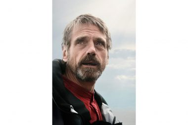 A portrait of the actor Jeremy Irons
