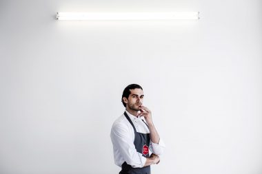 Portrait of chef Jozef Youssef photographed in London