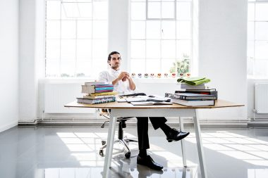 Interior photograph of London chef Jozef Youssef in his London studio