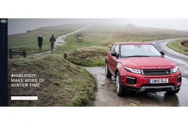 Range Rover advertising photograph