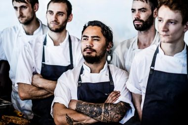 Photograph of chefs at London food event wastEd