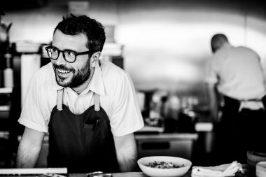 Portrait of Chef Christian Puglisi at London food event WastEd