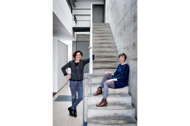 A portrait of Mary Bowman and Nina Kölbeck of Gustafson Porter in London
