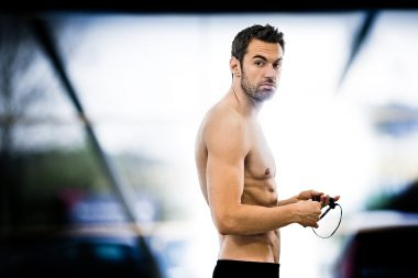 A portrait of the Australian Olympic Swimmer Matt Target