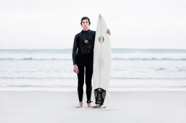 A portrait of the surfer Oli in New Zealand