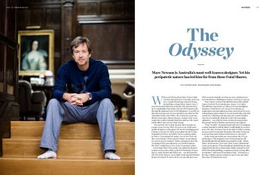 The deisgner Marc Newson in his London home for Habitus Magazine