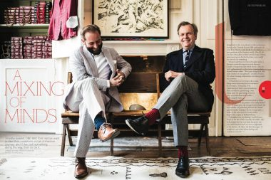 A portrait of Tom Harrow and Timothy Everest for Rolls Royce Magazine