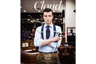 A portrait of London tailor Tom Bradbury for Cloud Magazine