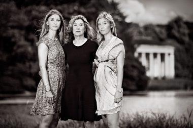 Selina, Aria and Sabrina Helenius at West Wycombe Estate