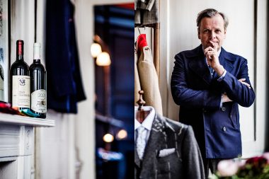 Portrait of tailor Timothy Everest for Rolls Royce magazine
