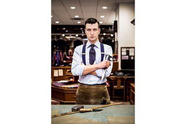 A portrait of the tailor Tom Bradbury in London