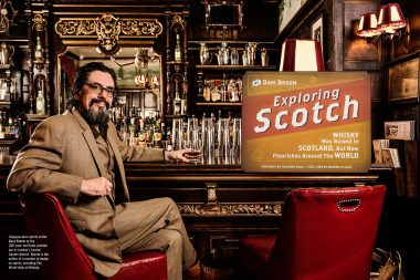 A portrait of the whisky expert Dave Broom for Wine Spectator magazine in London