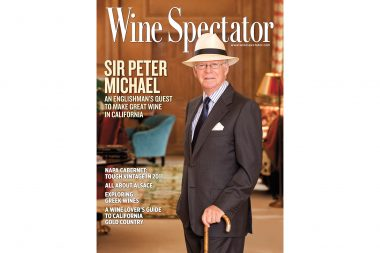 A portrait of Sir Peter Michael for Wine Spectator