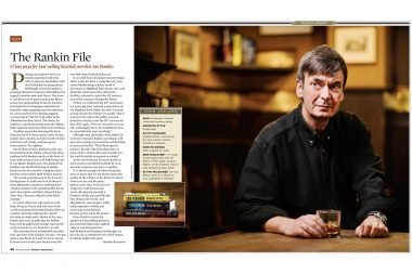 Photographic-portrait-of-Ian-Rankin-in-London-for-Cigar-Aficionado