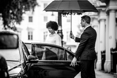 lifestyle-advertising-photograph-of-chauffeur-and-passenger-with-mercedes
