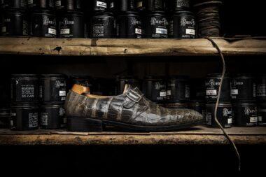 mens-shoe-on-shelf-in-john-lobb-london